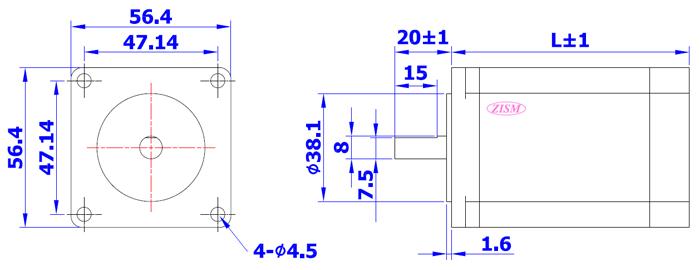 2 相步進馬達 (安裝面 57 mm) HB-TYPE 為高轉矩,低震動的步進馬達.(馬達軸心8mm) • 使用環境溫度: - 20 ~ + 50 °C. • 絕緣阻抗: 100 MΩ Min (at DC 500V). • 絕緣耐壓: AC 500V ( 1 Min ) . • 軸心平行振動: 0.075 mm Max. • 軸心垂直振動: 0.